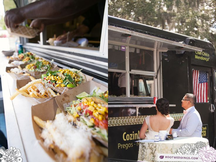 Personaliza el menu de los food trucks para bodas. Tiffany & Jimmy en el Maitland Art Center Wedding en Orlando, Florida.