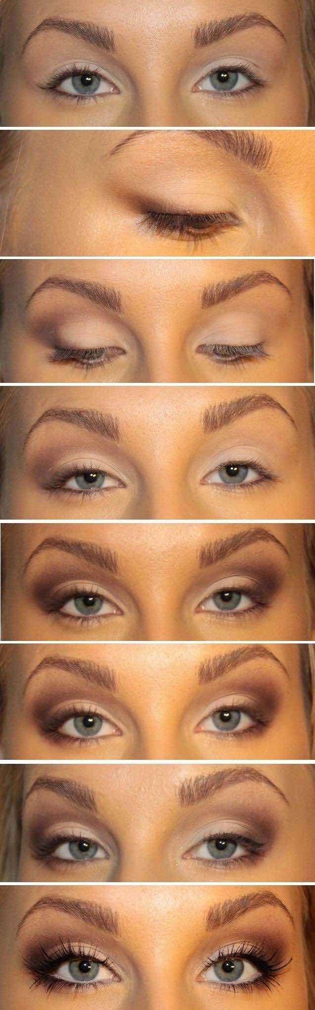 Trucos para maquillar ojos juntos.
