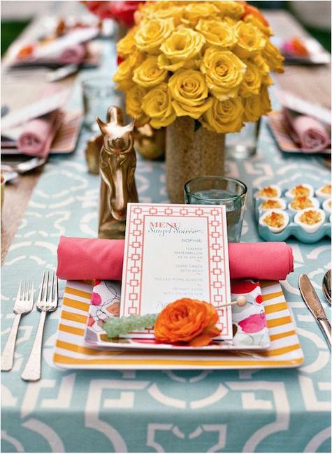 Vintage, boho y country se mezclan en esta decoración de mesa para una country chic wedding.
