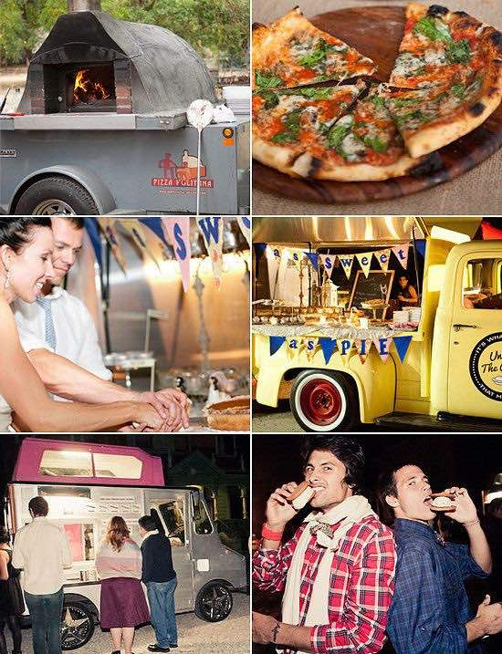 Una de las ultimas tendencias en bodas del 2016: los food trucks para bodas.