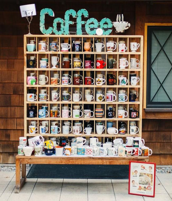 Coffee bars para bodas: llévate tu mug a casa! Coffee bar: take your own mug home as a souvenir!