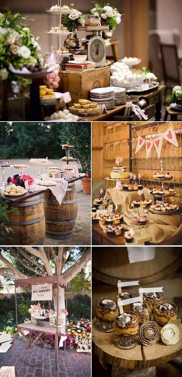 Consejos para preparar tus mesas de dulces para bodas. Ideas originales para organizar tu boda.