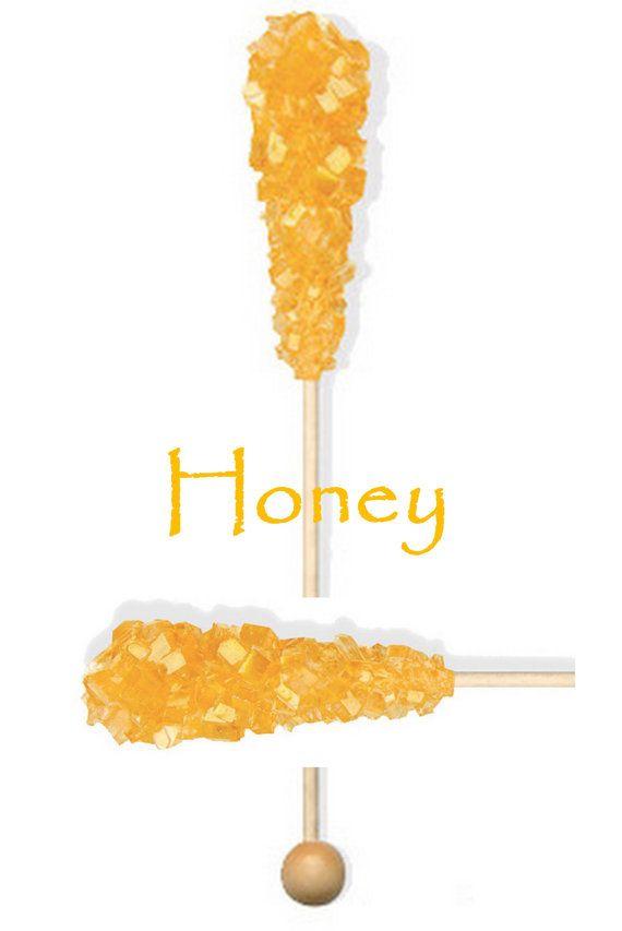 Detalles para agregar a los coffee bars para bodas. Palitos de miel azucarada. Honey stirrer sticks for the coffee bar.