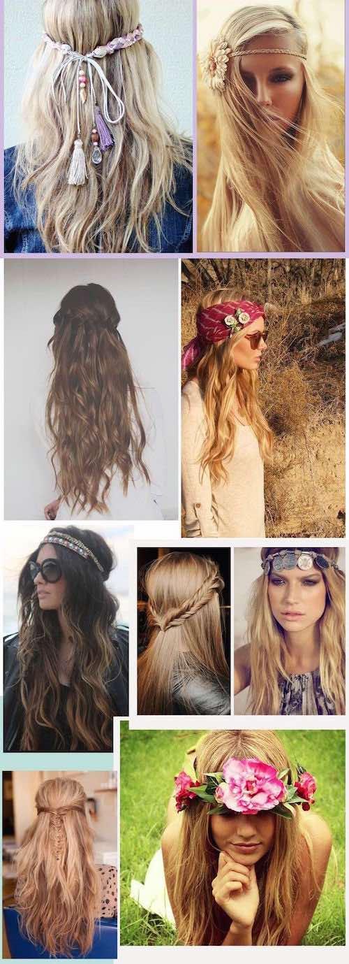 Ideas de peinados boho fabulosos. No te pierdas esta colección de peinados para novias boho despeinados, desenfadados y originales.