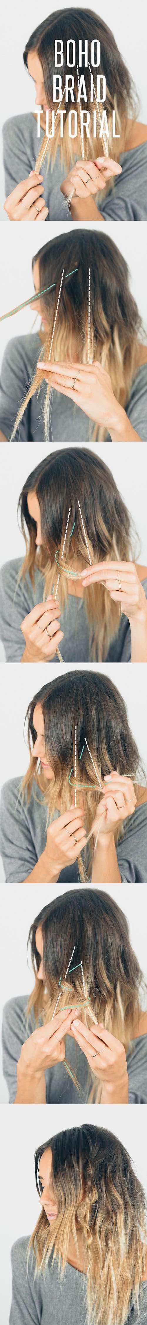Peinados Paso a Paso Boho: Paso a paso para lograr una trenza boho.