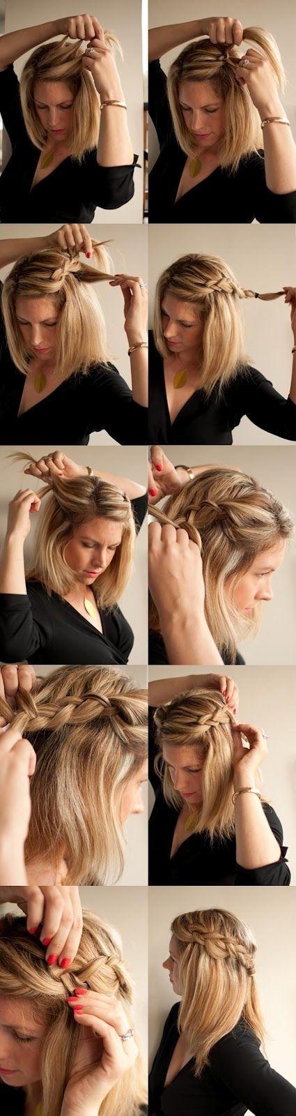 Peinados Paso a Paso: Peinados para novias boho paso a paso para no perdérselo! Este look te sirve hasta para diario. Trenzas en cascada para pelo largo o mediano.