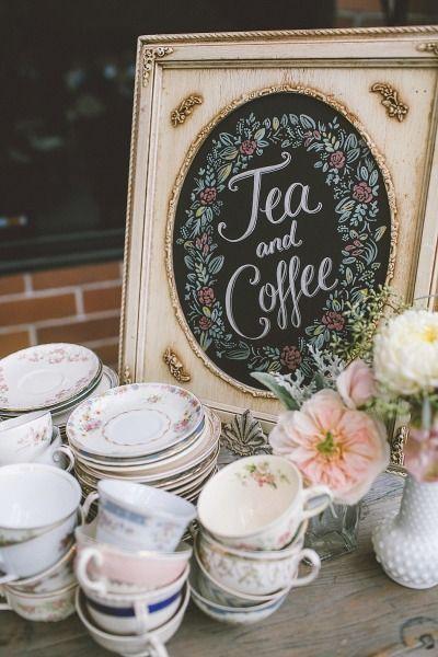 British coffee and tea bar. Una boda en Santa Monica cuyo coffee bar nos recuerda al 5 o'clock tea. Fotografia de Anna Delores