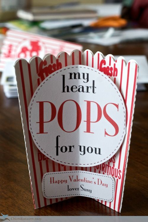 Pop goes my heart for you!! Tarjetas originales para regalarle a tu novio en San Valentín