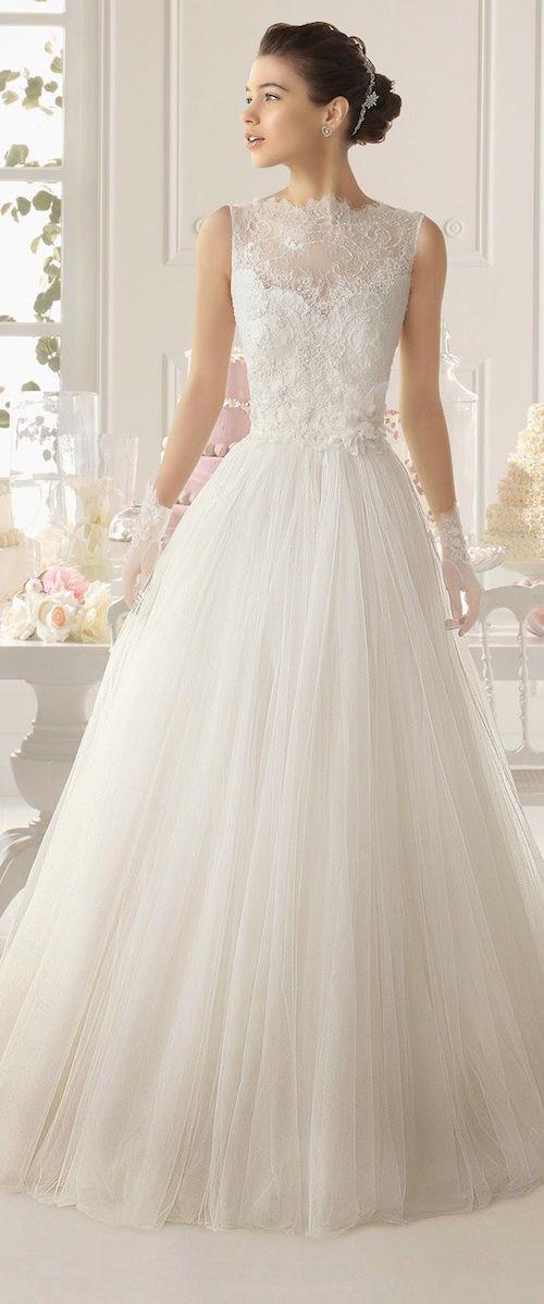 Aire Barcelona bridal A-Line gown, a dream come true. Un sueño de vestido para novias con corte princesa de Aire Barcelona.