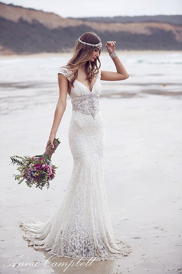 Vestido vintage boho de la colección Spirit de Anna Campbell. The exquisite 'Spirit' 2016 wedding dress collection by Anna Campbell.