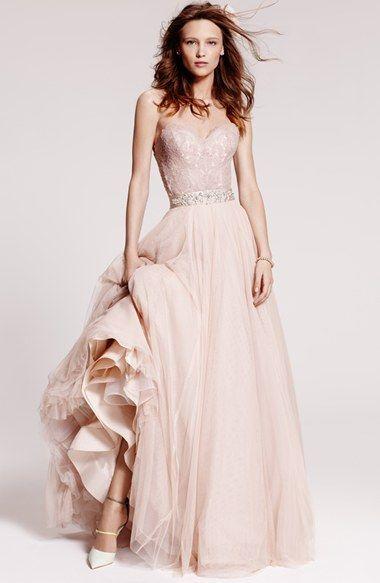 """Falda """"Ahsan"""" en tul de Watters para una novia que busca algo diferente. En color blush, perfecta para combinar con el corset Carina."""