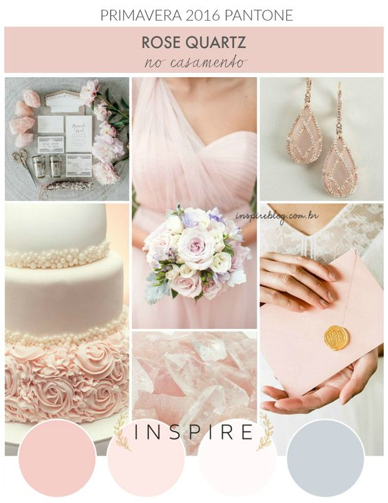 2016 wedding trends. Rose Quartz Spring weddings. Tendencias en bodas 2016: Rosa cuarzo para bodas en primavera.