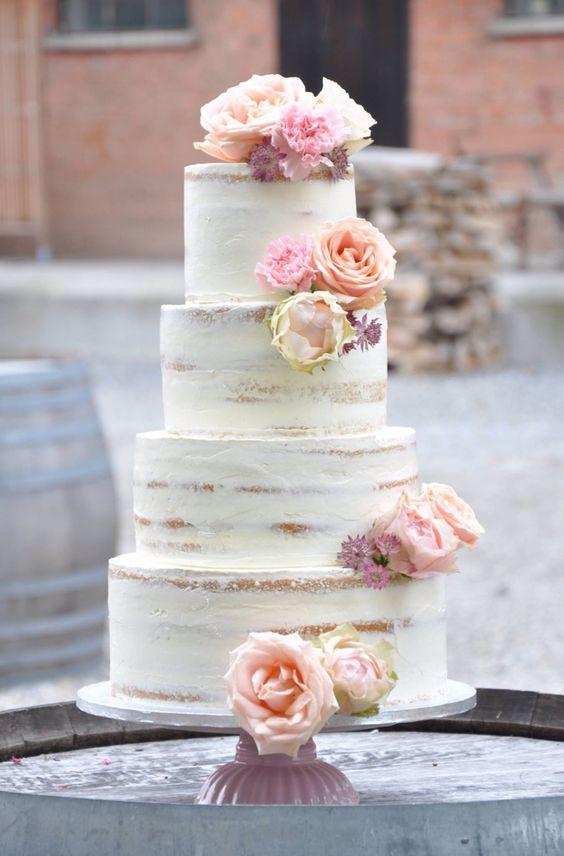 Tendencias en pasteles de bodas Â¡vivan las tartas semi desnudas!