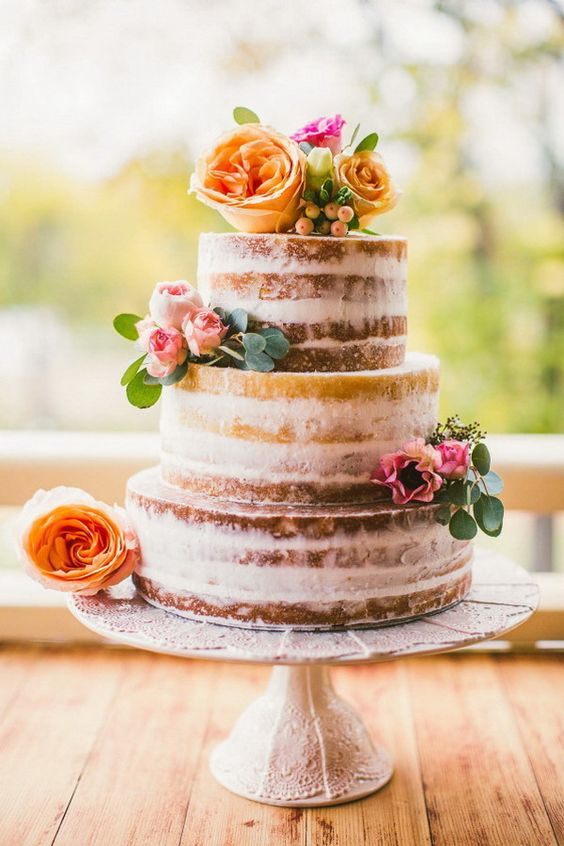 Tortas Para Matrimonio Rustico : Tendencias en pasteles de bodas ¡vivan las tartas semi