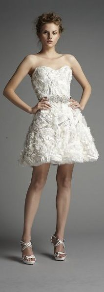 Vestido de novia corto de Zuahir Murad