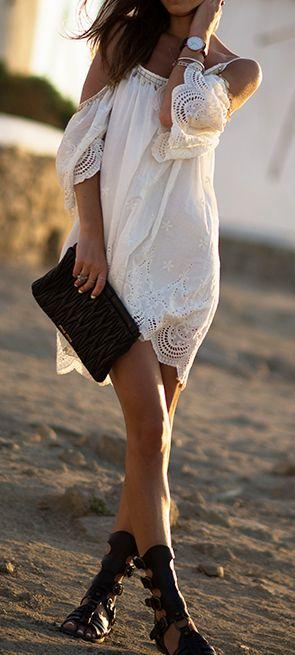 Para un matrimonio en la playa el boho se impone.