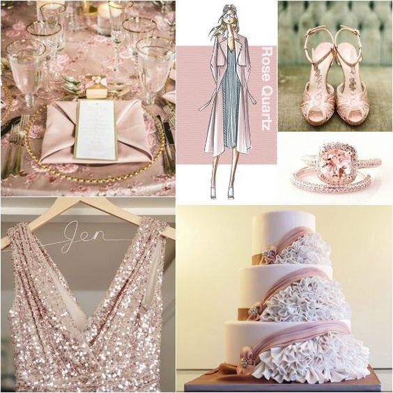 Absolutamente increíble decoración de bodas en rosa cuarzo.
