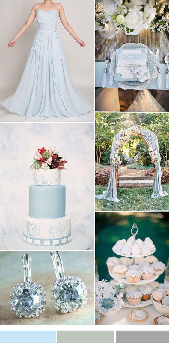 Ideas de decoración de bodas en rosa cuarzo y azul serenity para pintar tu boda de amor y equilibrio.