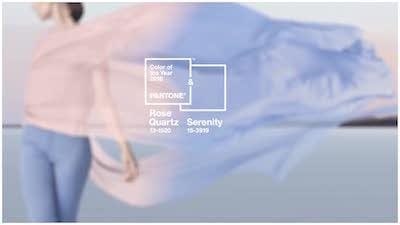Rosa cuarzo y azul serenity: color del año de Pantone