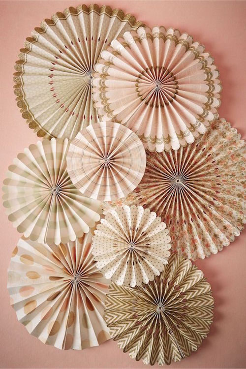 Para armar tus cortinas de papel para bodas estilo vintage.