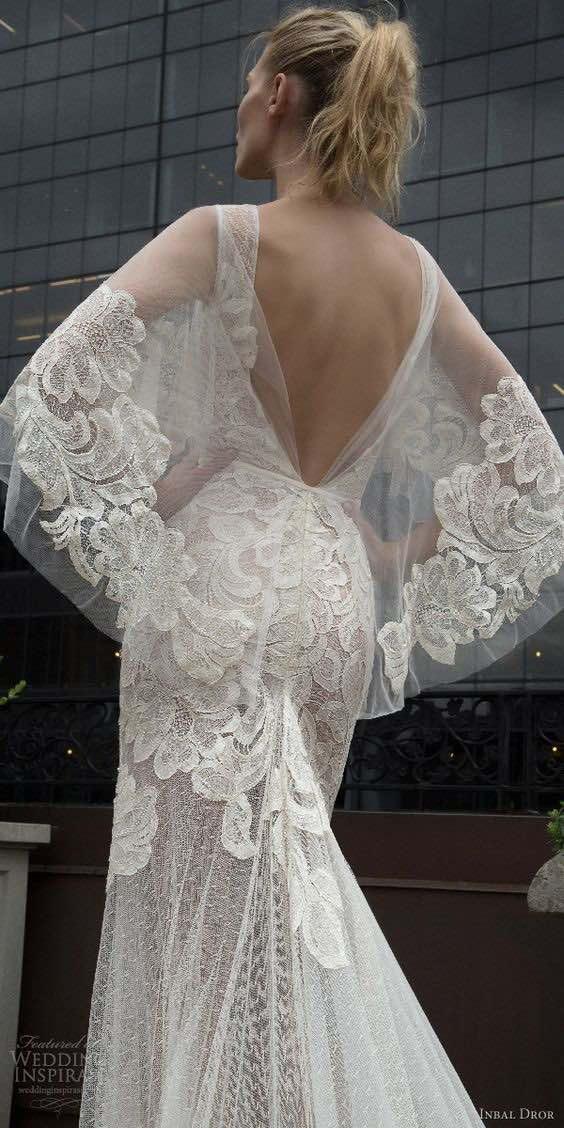Vestido de novia blanco de la colección de Inbal Dror otoño 2016.
