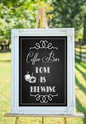 Coffee bars: una idea original para menus de boda.
