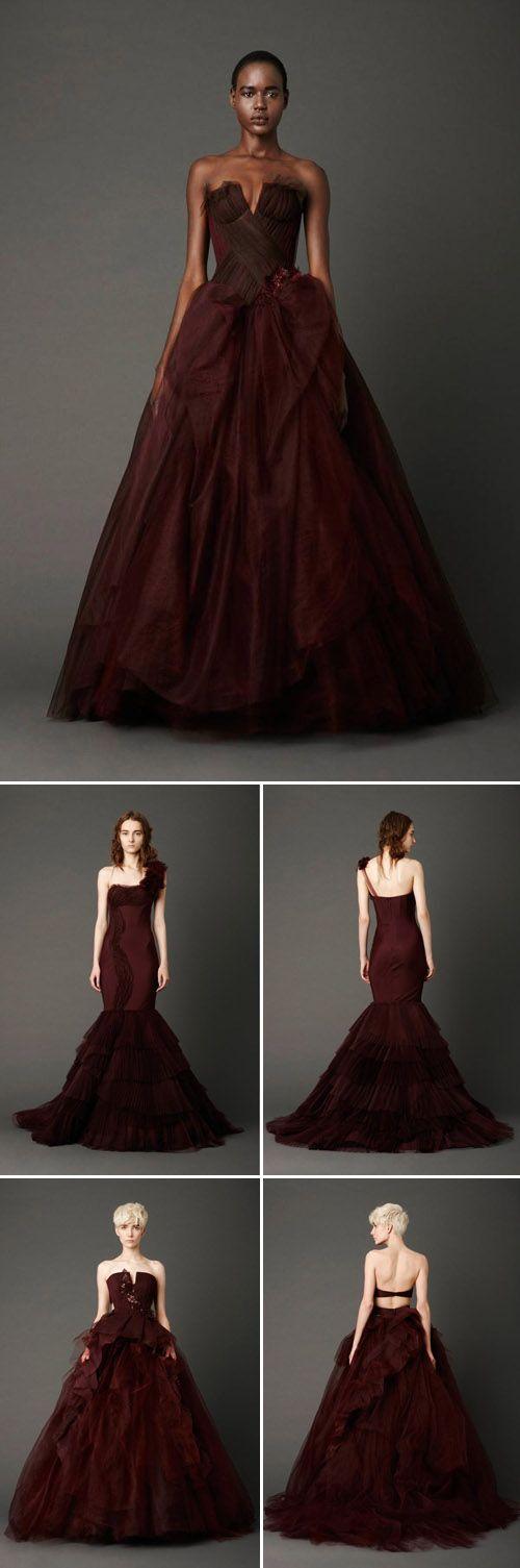 La primer colección de Vera Wang que incorporó vestidos no tradicionales