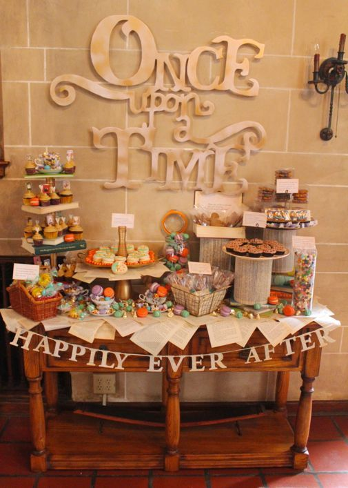 A dessert table for your fairytale wedding.