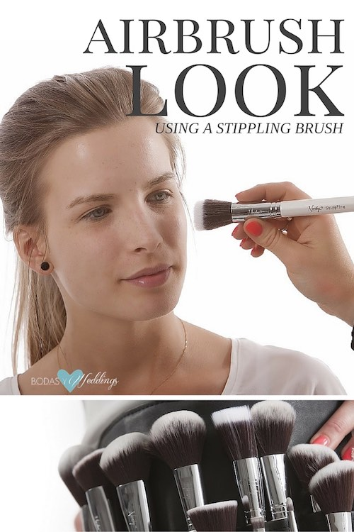 Achieve the airbrush look with this simple tutorial using a stippling brush