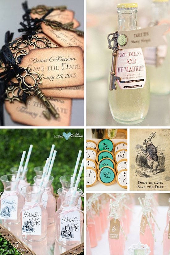 Disney Themed Wedding: Alice In Wonderland. 1  Save The Date Ideas For A