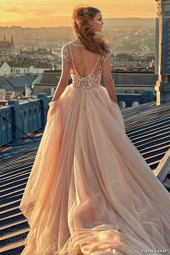 A dream in blush: Gala by Galia Lahav. Fall Wedding Dresses. Want to see more Galia Lahav dresses?