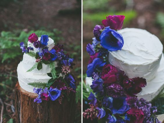 Gold jewel tones for this fairytale wedding cake photographed by Two Foxes Photography.