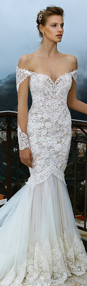 Michal Medina Bridal spring couture wedding dress.