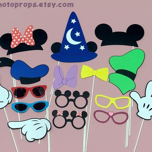 More Photo Booth props for your Disney themed wedding.