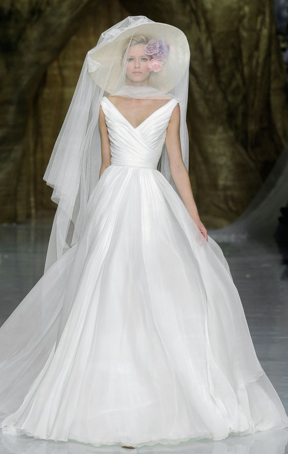 This white wedding dress article wouldn't be complete without a Pronovias bridal gown.