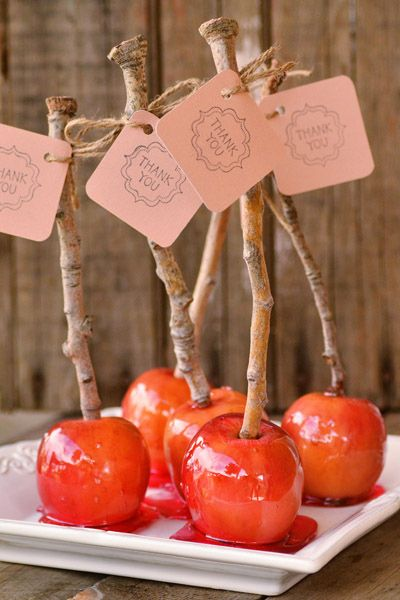 Snow White inspired candied apples. So maybe you aren't getting married in a castle. You can still add a touch of Disney Magic to your special day.