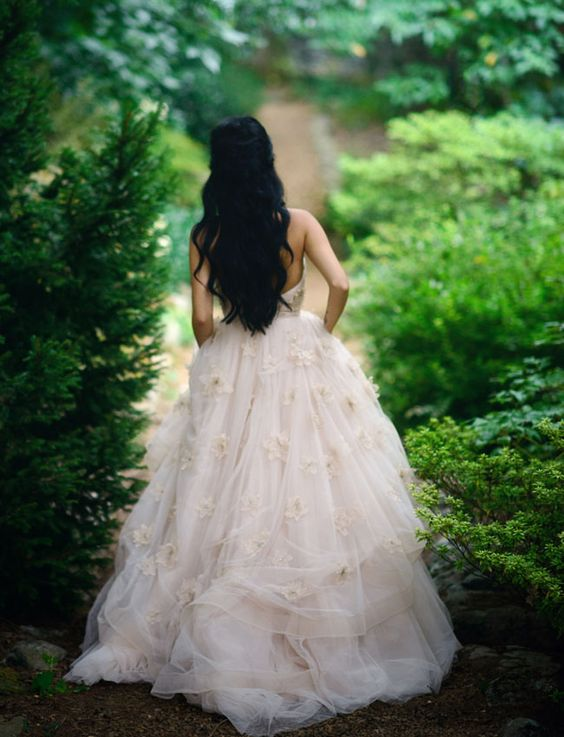 Gorgeous ball gown wedding dress for an insanely fun fairytale inspired wedding.