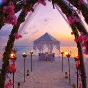 There is no need for chairs at the beach if the ceremony is short. And, what a view!