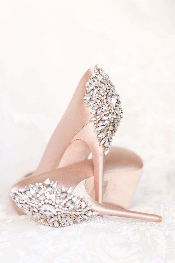 Light blue wedding heels