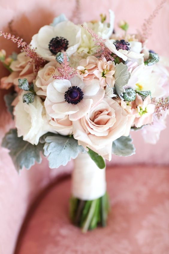 Bridal bouquet for blush weddings. Flowers by First Bloom of Charleston. Photo by Jennifer Beardon Photography via Charleston weddings Blog