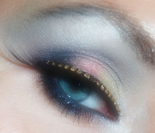 Love the detail. Diamonds are forever! Eyelid makeup