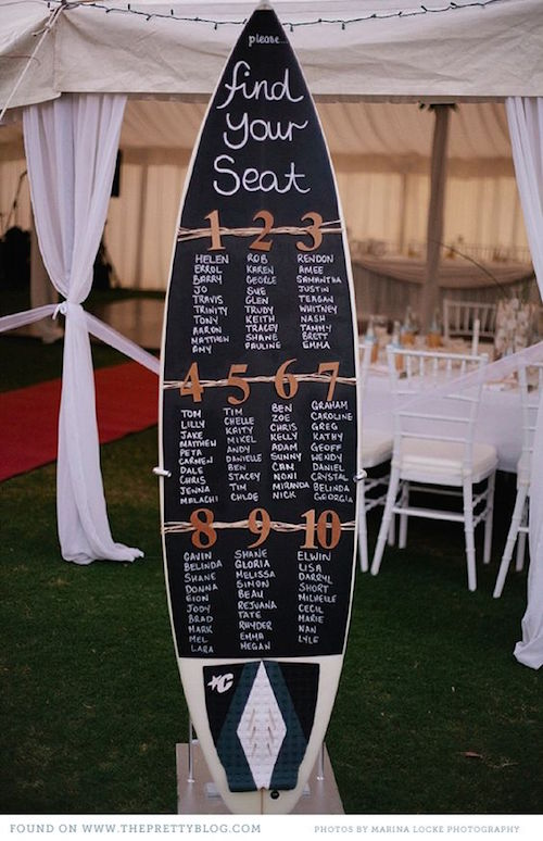 Una idea para las parejas surferas via The Pretty Blog.