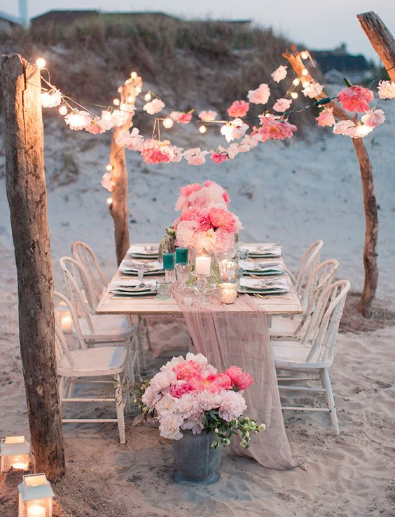 Lauren Fair Photography captured this incredible scenario for a very intimate beach themed wedding.