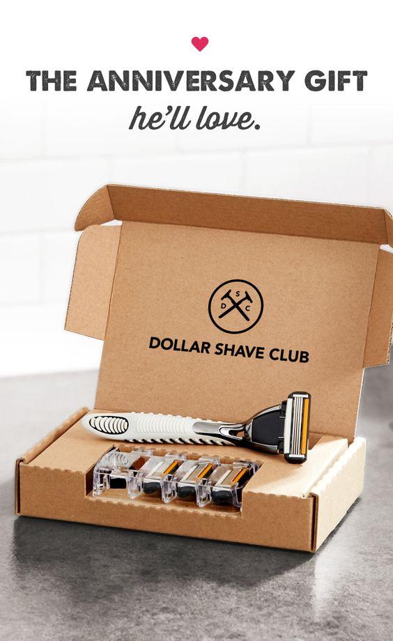¿Que tal una membresia al Dollar Shave Club? Te parece un buen regalo original para tu novio?