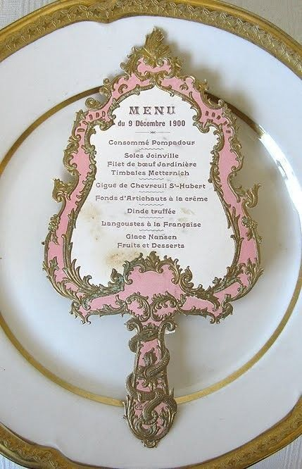 Mirror, mirror, on the wall for the menu of a Disney themed wedding. It will surely put a smile on your guests faces.