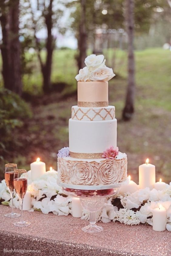 rose gold and blush wedding cakes blush wedding 23 impossibly ideas 19265