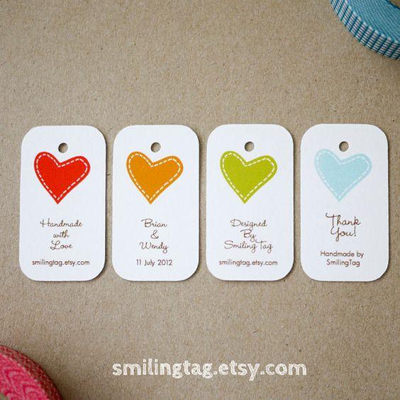Agrega una tarjetita (via Etsy) a tus souvenirs de boda: Perfectas para atar a los recuerdos hechos con mason jars.