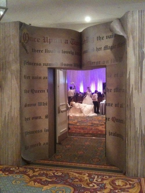With a little bit of imagination you can turn the entrance to your wedding reception into a fairytale.