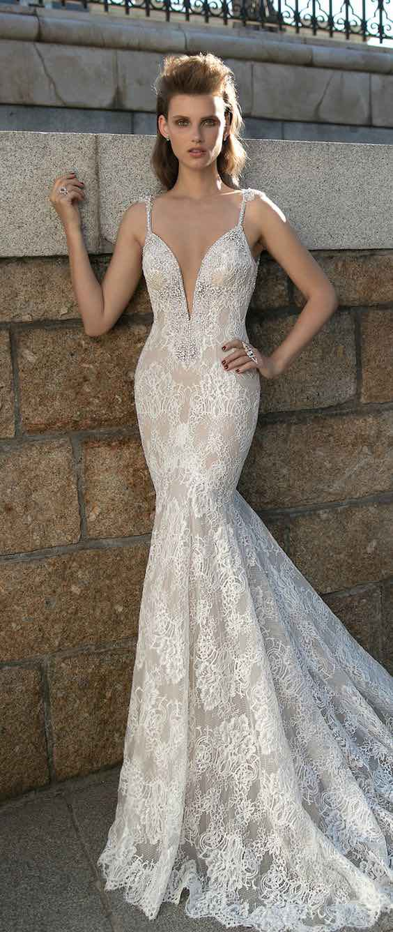 Another gorgeous white wedding dress from the Berta Bridal 2016 collection.