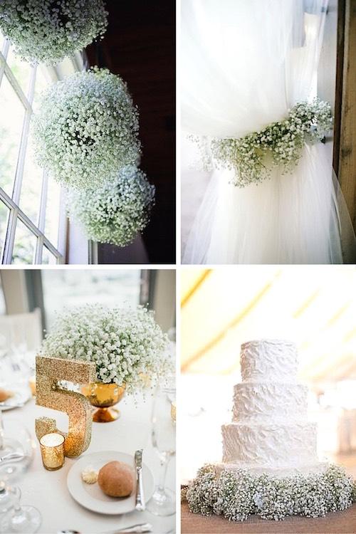 Arreglos florales para boda con baby s breath encantadores for Arreglos para boda civil